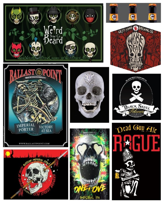 For the Love of God & Craft Beer Skulls