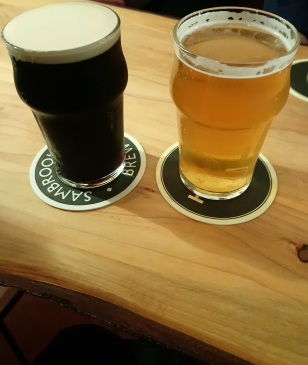 Sambrooks Stout and Hale Cacao Lager at the Golden Ark